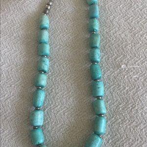 Jewelry - Necklace. Aqua stone like stones.